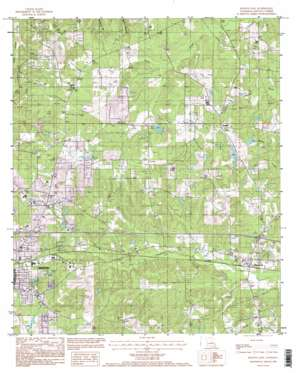 Ruston East topo map