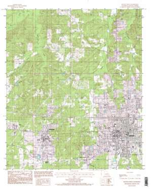 Ruston West topo map