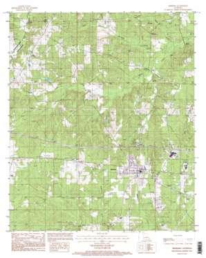 Simsboro topo map