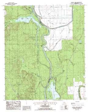Harrell Lake topo map