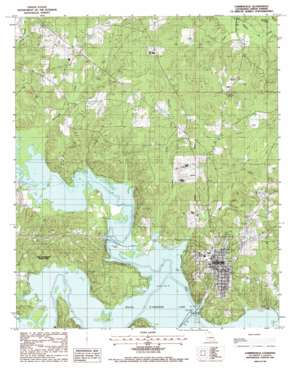 Farmerville topo map