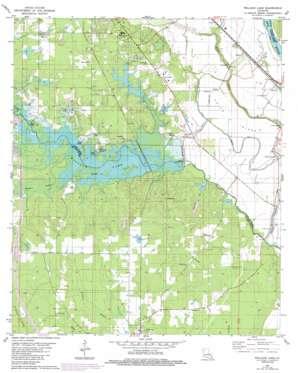 Wallace Lake topo map