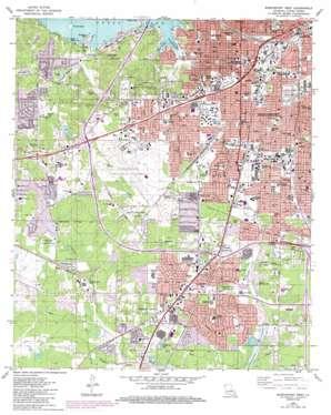 Shreveport West topo map