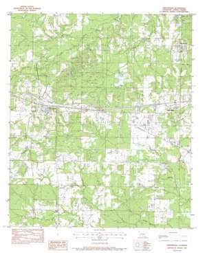 Greenwood topo map