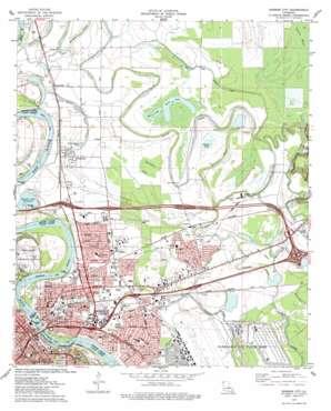Bossier City topo map