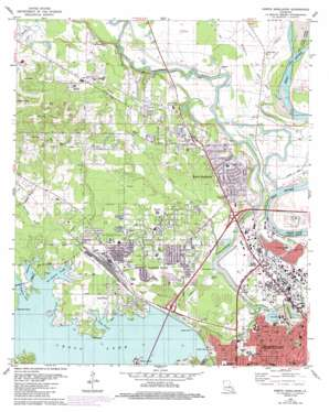 North Highlands topo map