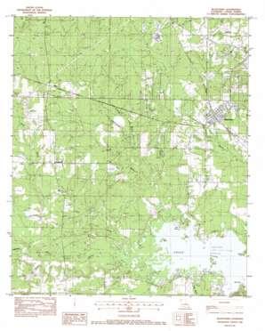 Blanchard topo map