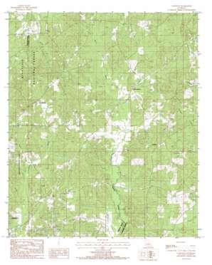 Langston topo map