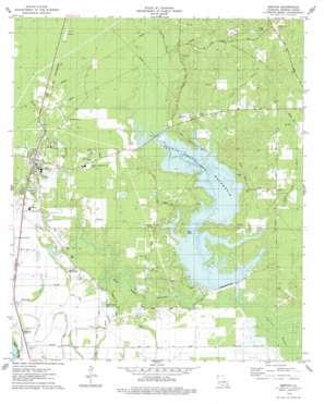 Benton topo map