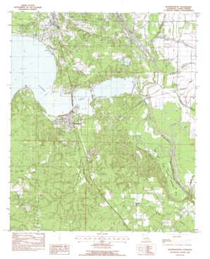 Mooringsport topo map