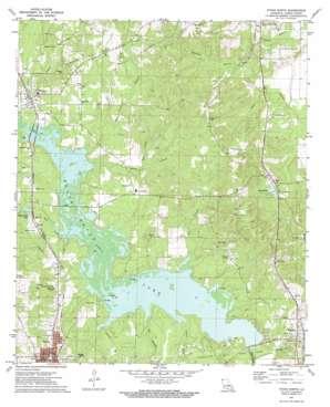 Vivian North topo map