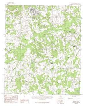 Beckville topo map