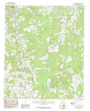 Colliers Creek topo map
