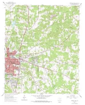 Marshall East topo map