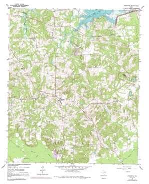 Harleton topo map