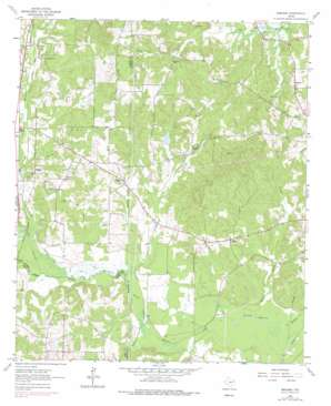 Ashland topo map