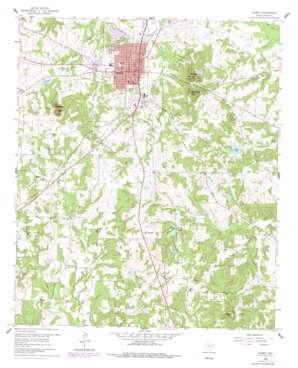Gilmer topo map