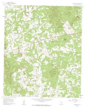 Coffeeville topo map