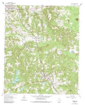 Avinger topo map