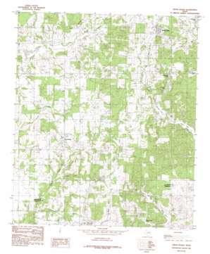 Cross Roads topo map