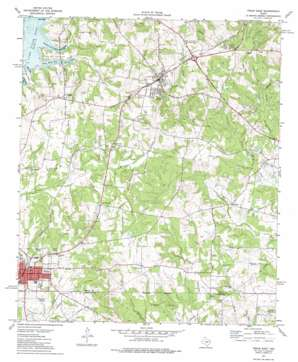 Troup East topo map
