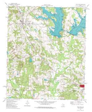 Troup West topo map