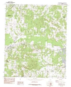 Brownsboro topo map