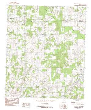 Murchinson West topo map