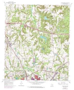 Tyler North topo map