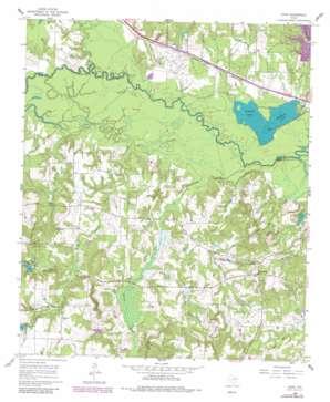 Crow topo map