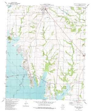 Lone Oak South topo map