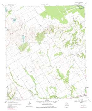 Bazette topo map