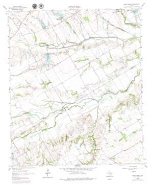 Cryer Creek topo map