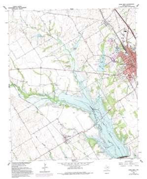 Ennis West topo map