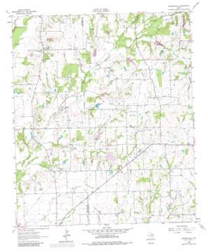 Prairieville topo map