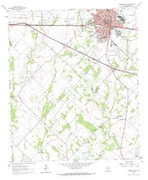 Terrell South topo map