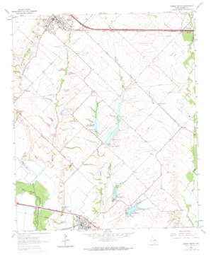 Forney South topo map
