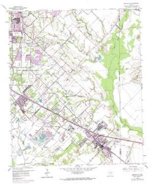 Seagoville topo map