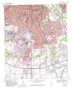 Oak Cliff topo map