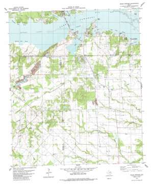 Ables Springs topo map