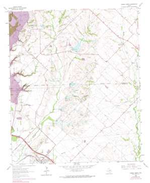 Forney North topo map