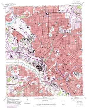 Dallas topo map