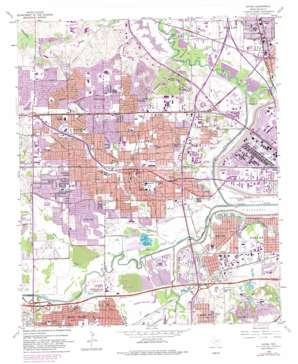 Irving topo map