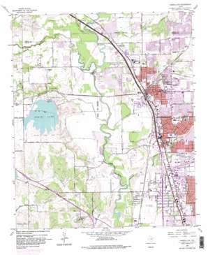 Carrollton topo map