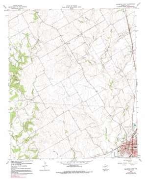 Hillsboro West topo map