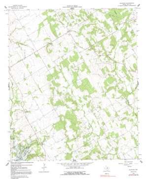 Blanton topo map
