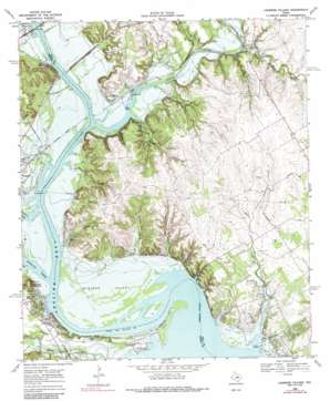 Lakeside Village topo map