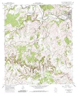 Glen Rose West topo map