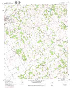 Cleburne East topo map