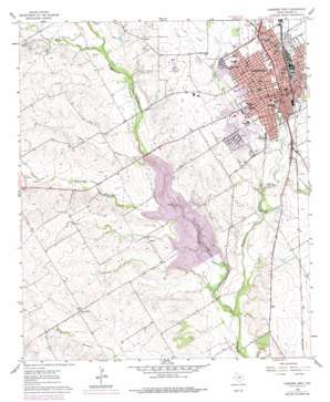 Cleburne West topo map